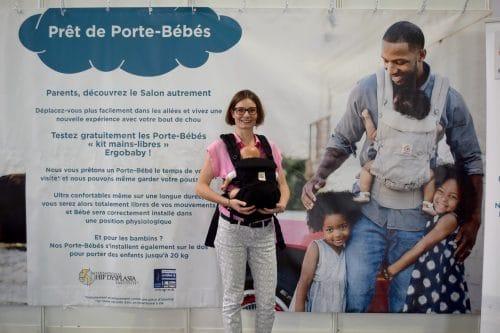 ergobaby pret porte bébé au salon baby de paris