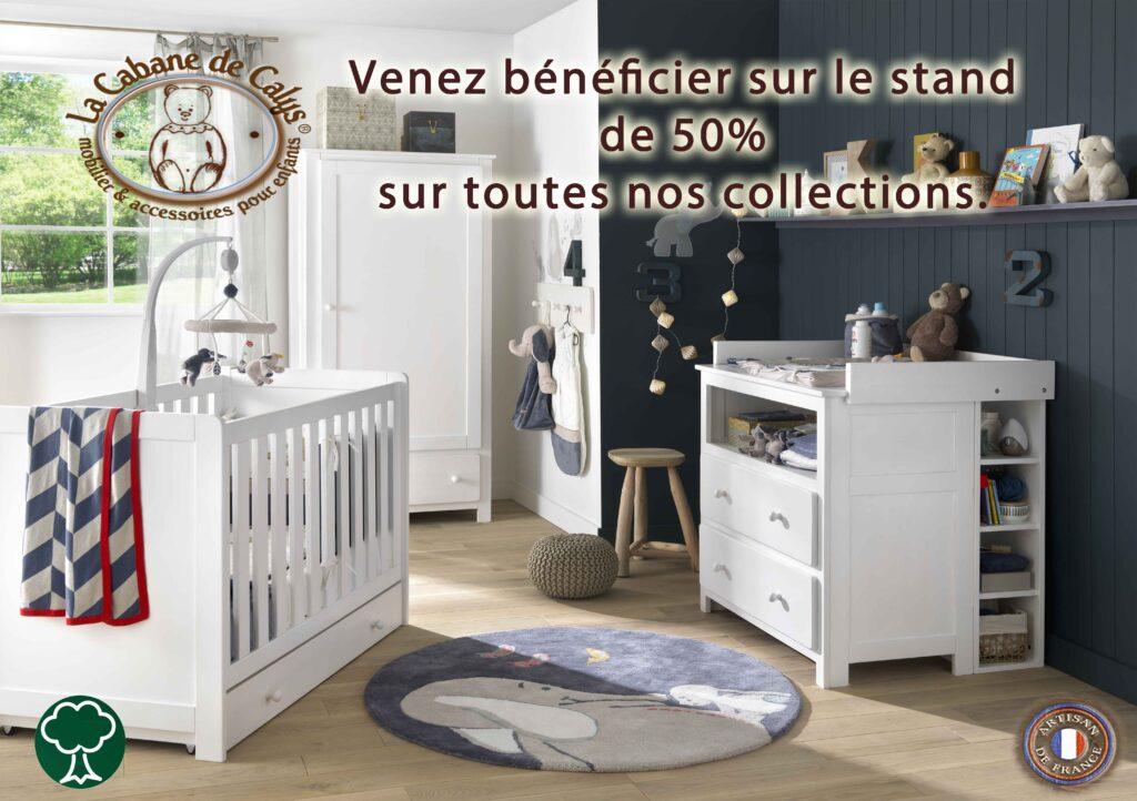 Offre spéciale de LA CABANE DE CALYS sur les Salons Baby