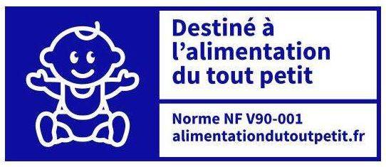 nouveau logo alimentation bébé - norme NF V90-001