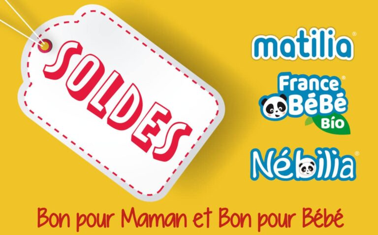 Les soldes arrivent chez Matilia & Nébilia & FRANCE BéBé BIO