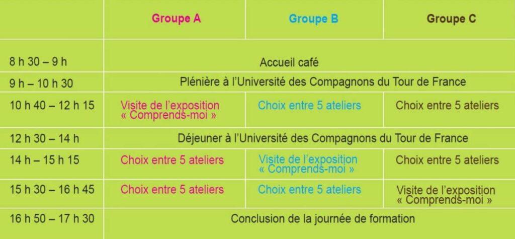 Programme journée formation Arras