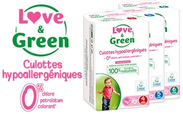 Culottes d'apprentissage hypoallergéniques Love & Green