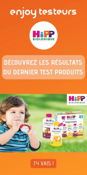 enjoy testeurs – Résultats Hipp Biologique Fruits à boire – 300*600