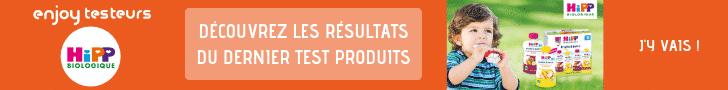 enjoy testeurs – Résultats Hipp Biologique Fruits à boire – 728*90
