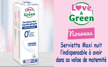 Serviette Maxi Nuit Love & Green