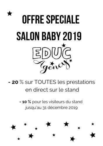 offre spéciale salon baby de Lille educ agency