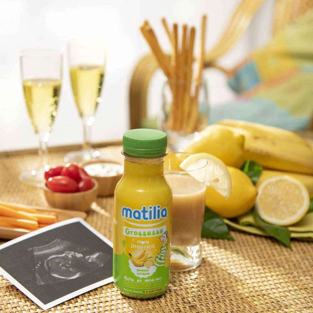 Smoothies Matilia Grossesse Banane Citron