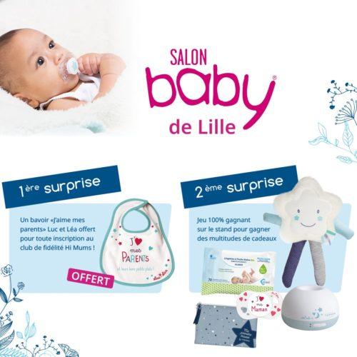 animation laboratoires gilbert sur le salon baby de Lille grand Palais les 23 et 24 novembre