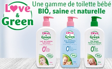 gamme de toilette bébé bio love and green