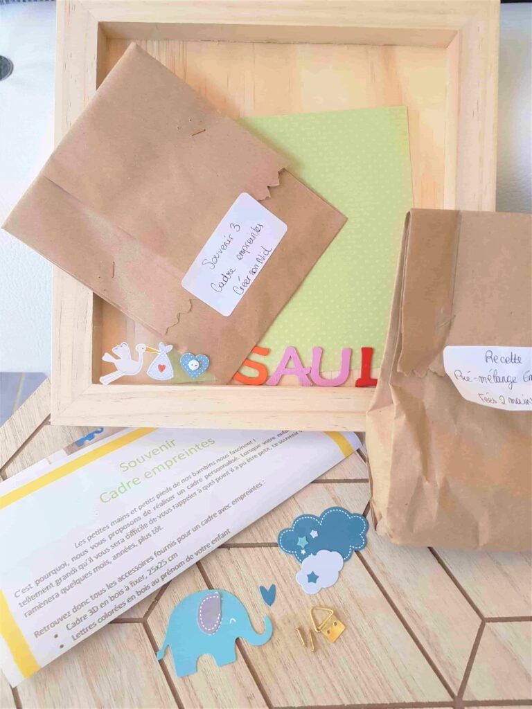 Réaliser un joli cadre empreintes de bébé avec le kit DIY de Fées 2 mains