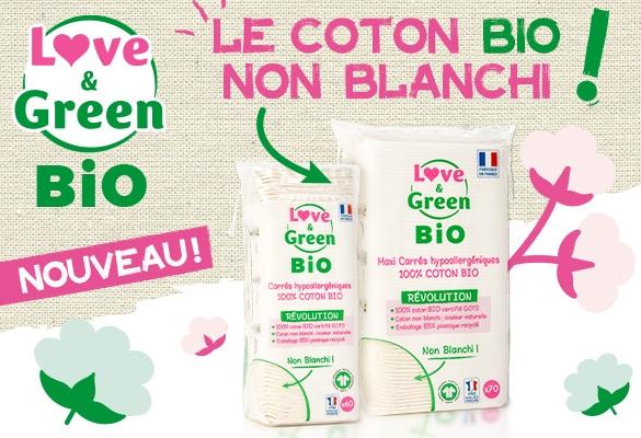coton non blanchi love & green